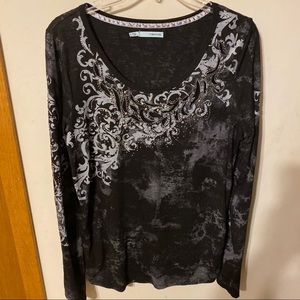 Maurices top with embellished front and sleeves